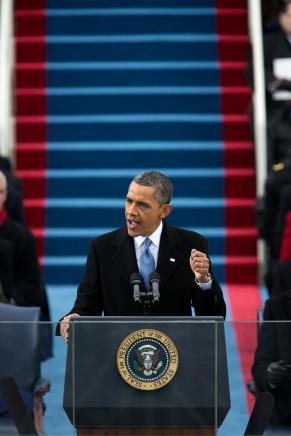 President Barack Obama Delivering 2013 Inaugural Address. Photo: WH/Lawrence Jackson